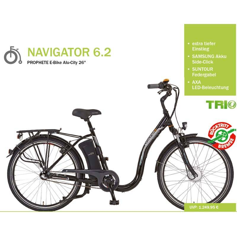 prophete navigator 6 2 tiefeinsteiger ebike im test. Black Bedroom Furniture Sets. Home Design Ideas