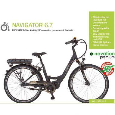 Prophete Navigator 6.7 Mittelmotor eBike