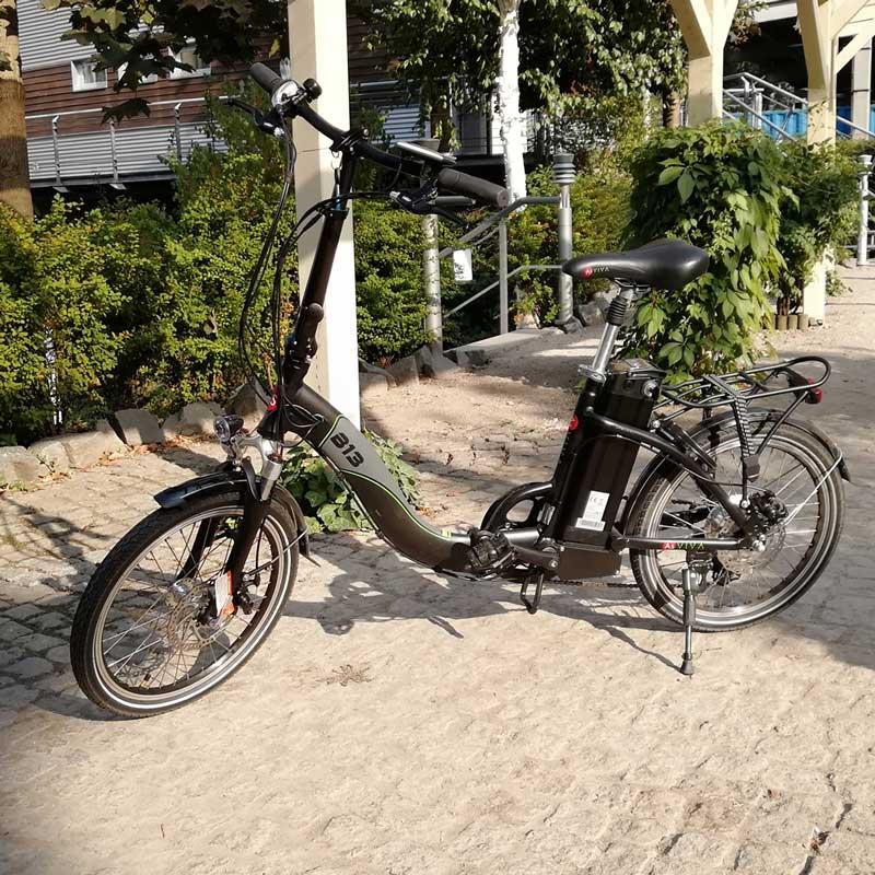 20 e bike vorgestellt asviva elektro faltrad b13 im detail. Black Bedroom Furniture Sets. Home Design Ideas