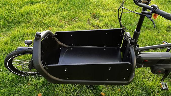 Box des E-Lastenrads Cargo Plus